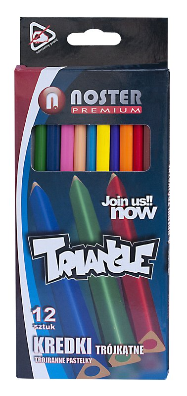 Trojhranné pastelky Noster - 12 barev