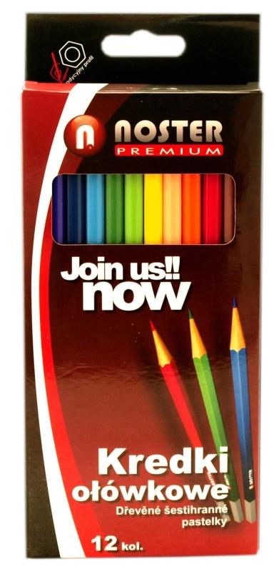 Pastelky Noster Premium - 12 barev