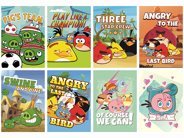 Sešit A5 čtvereček, Angry Birds, 16 listů