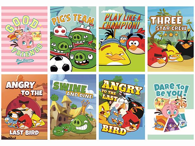 Sešit A5 linka, Angry Birds, 16 listů