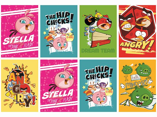 Sešit A5 linka, Angry Birds, 32 listů