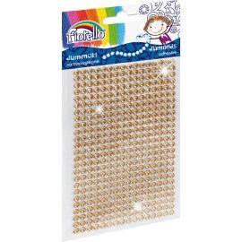 Samolepicí perličky Fiorello - zlatohnědé