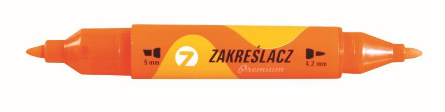 Zvýrazňovač TETIS premium oboustranný oranžový