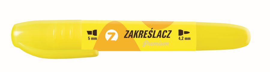 Zvýrazňovač TETIS premium oboustranný žlutý