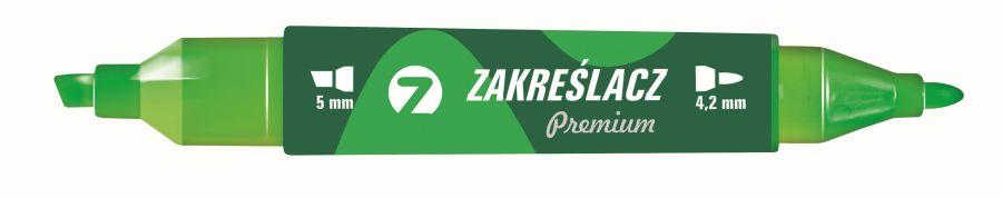 Zvýrazňovač TETIS premium oboustranný zelený