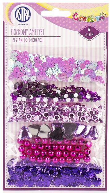 Sada flitrů fialový mix