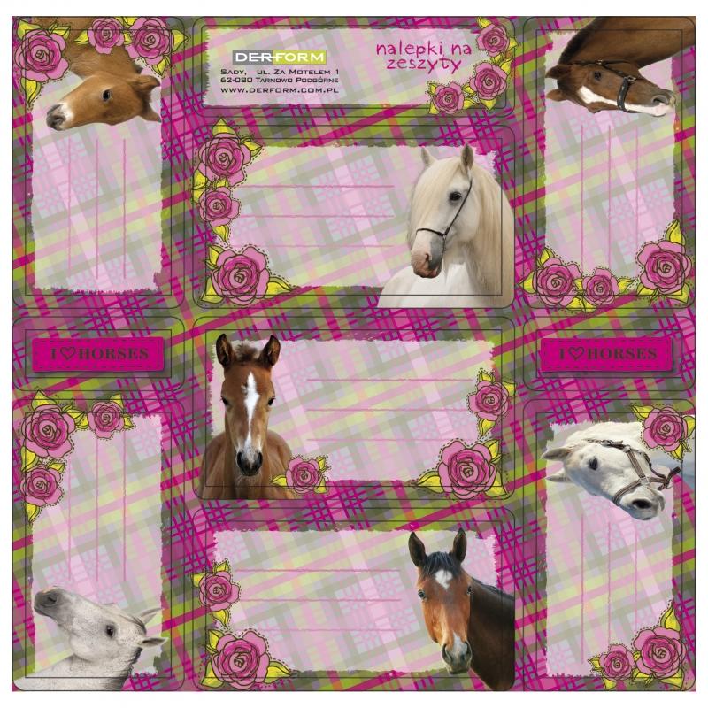 Jmenovky na sešity - Koně