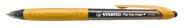 Kuličkové pero Stabilo Performer+ , černo-oranžové