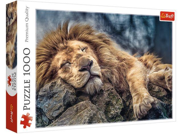 Puzzle 1000 dílků - Spící lev