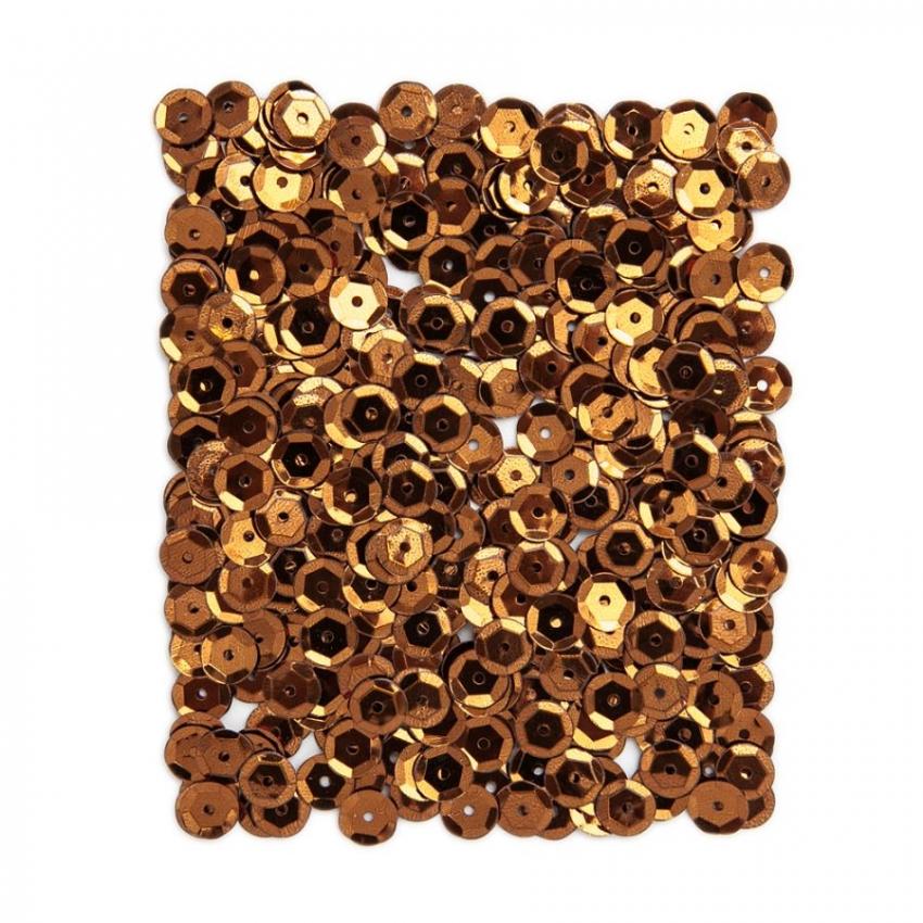 Kovové flitry DPCraft 9 mm - měděné