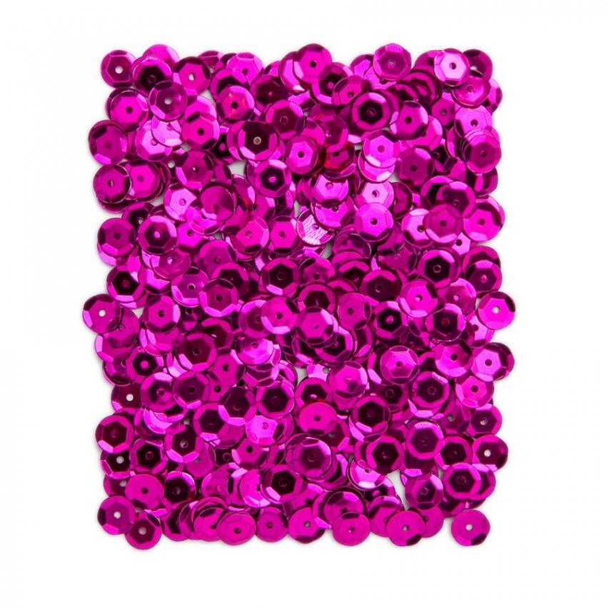 Kovové flitry DPCraft 9 mm - tmavě růžové