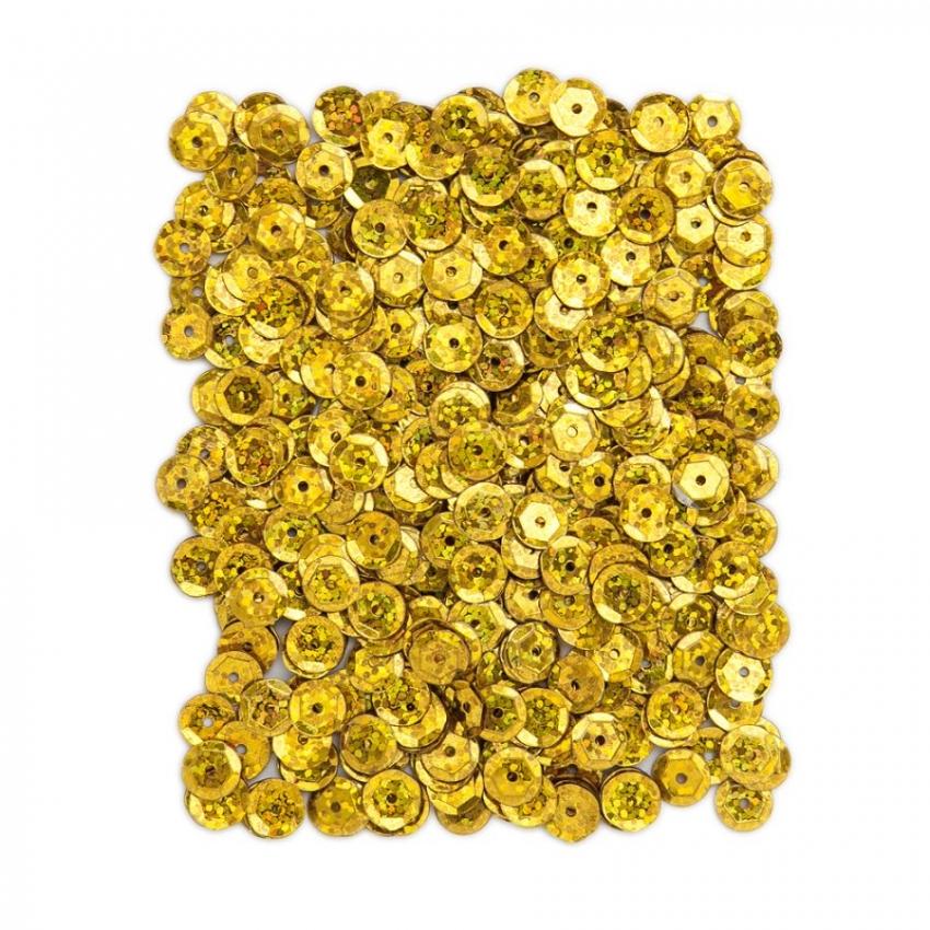 Kovové flitry DPCraft 9 mm - zlaté