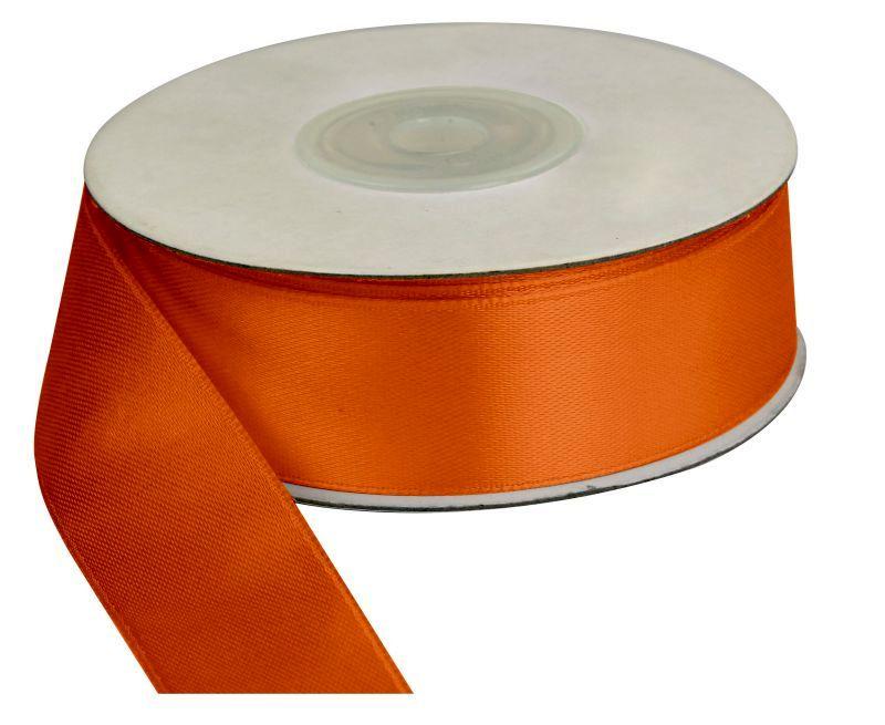 Saténová stuha 25 mm, 25 m, oranžová
