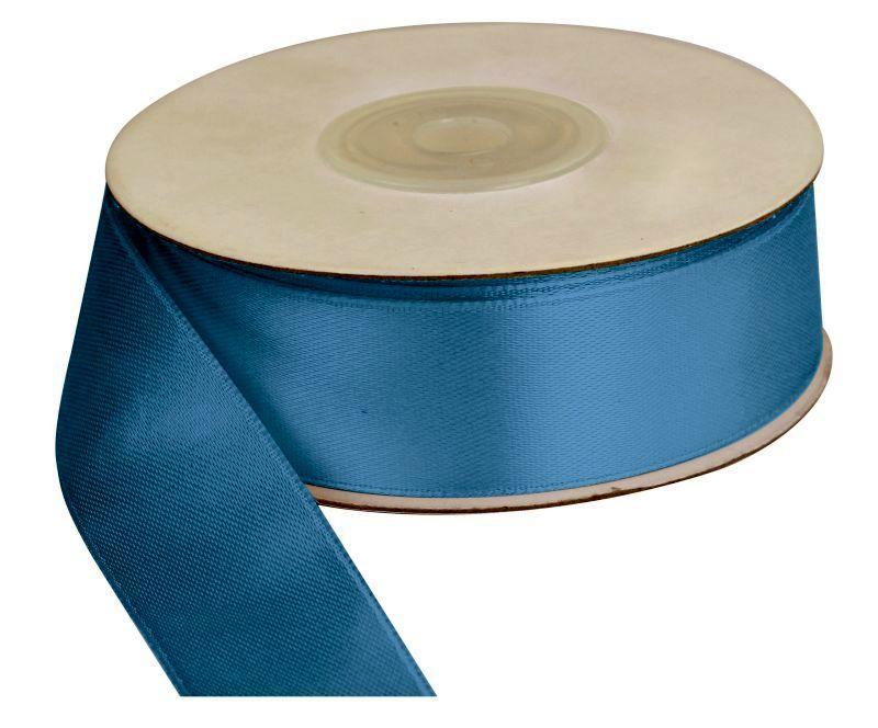 Saténová stuha 25 mm, 25 m, modrá