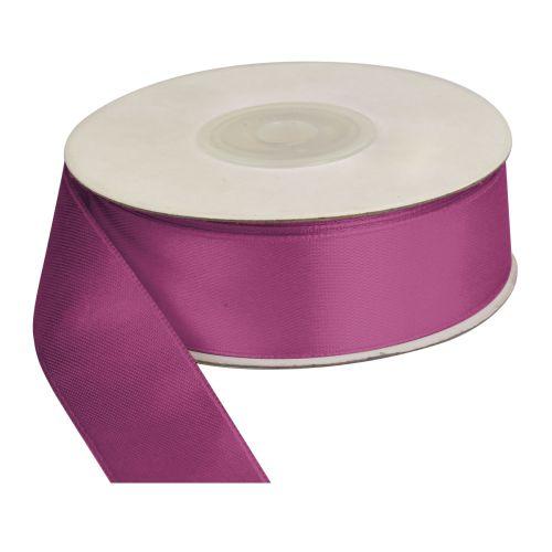 Saténová stuha 25 mm, 25 m, tmavě fialová