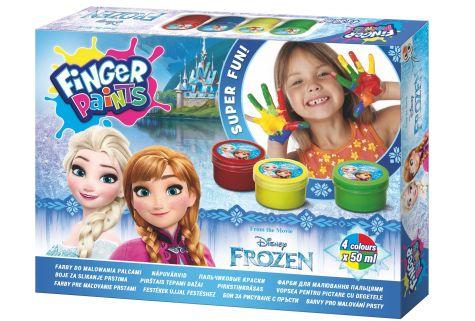 Prstové barvy Frozen 4 barvy - 50 ml
