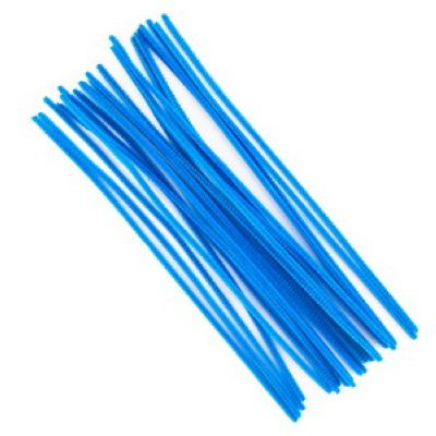 Kreativní chlupaté drátky 30 cm, 25ks - modré
