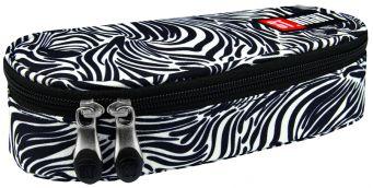 Školní penál St. Right zebra- etue na zip