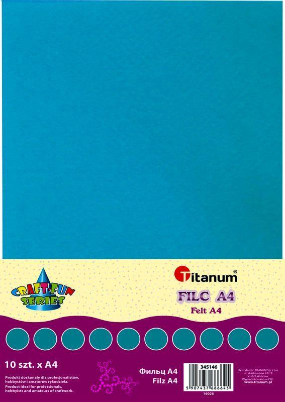 Filc modrý A4 , síla 2 mm (200g) - balení 10 kusů