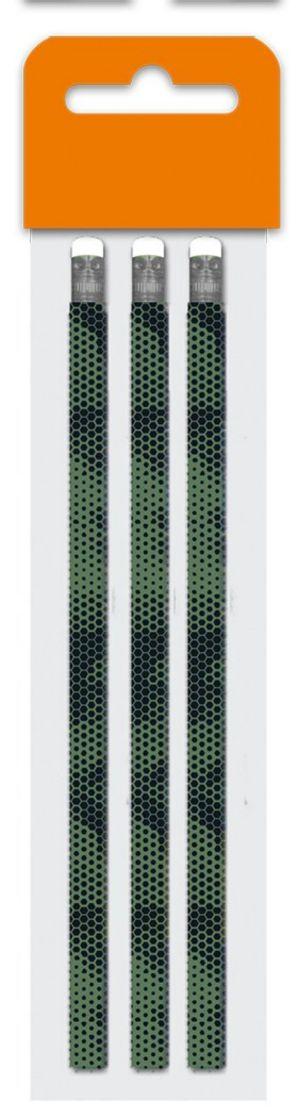 Tužka s gumou č. 2, sada 3 kusů - Fashion Basic