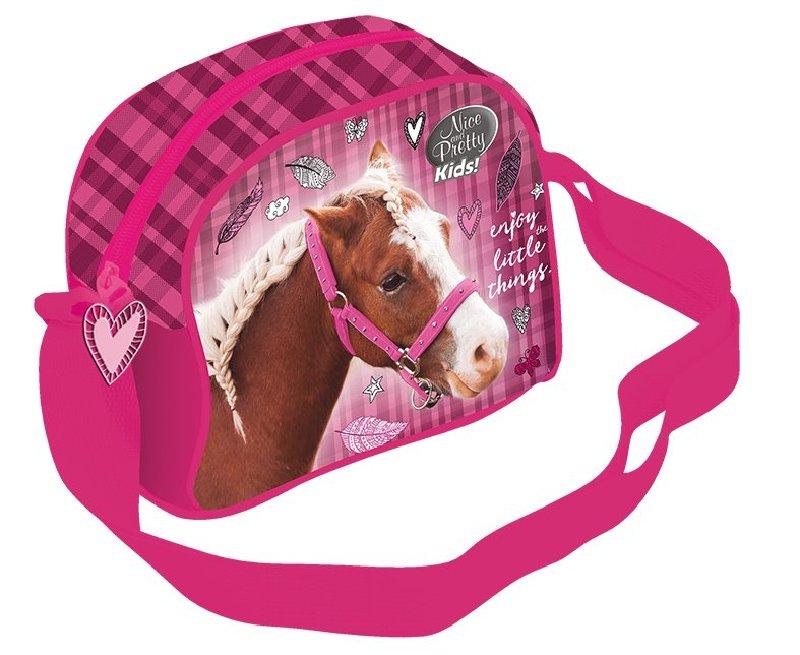 Taška přes rameno růžová - Kůň