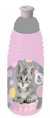 Plastová školní láhev na pití BENIAMIN - Kočka