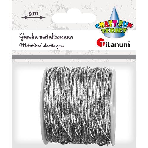 Gumička Titanum, špulka, návin 9 m - stříbrná