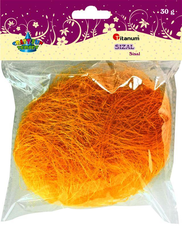 Oranžový sisal Titanum 30g