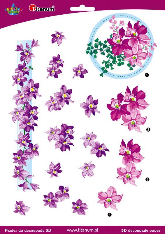 Papír na decupage 3D - květiny