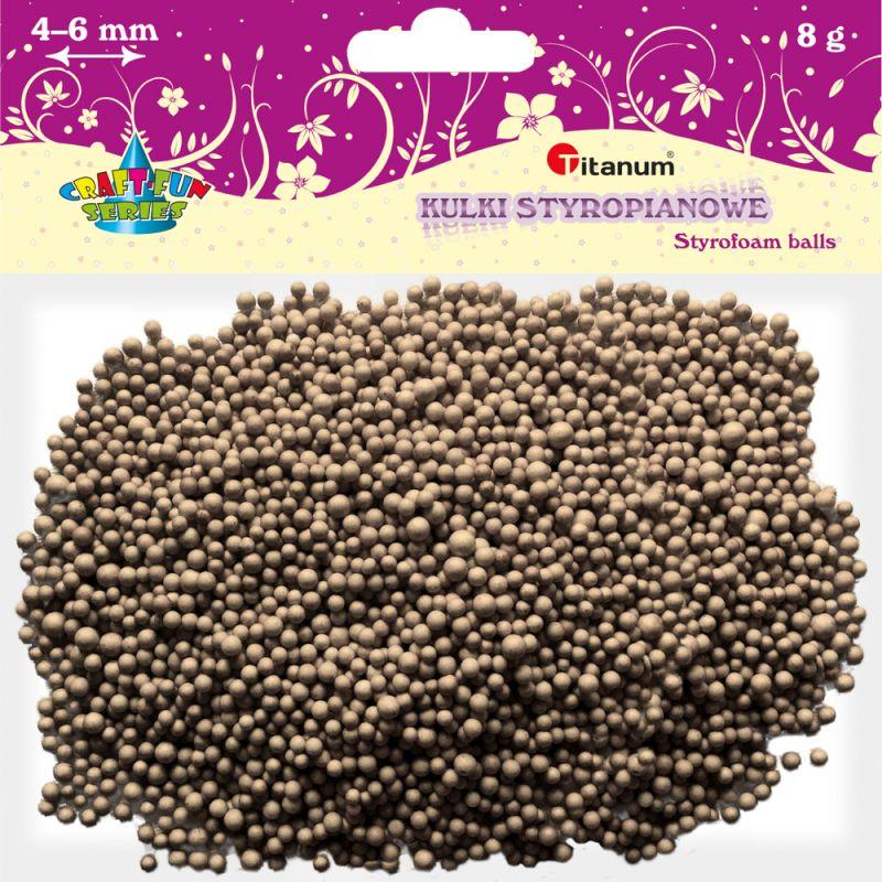 Polystyrénové kuličky TITANUM 3-5mm / 8g hnědé