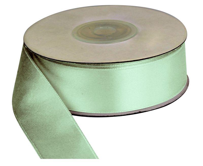 Saténová stuha 25 mm, 25 m, zelená