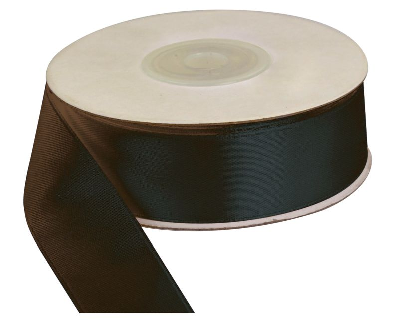 Saténová stuha 25 mm, 25 m, černá