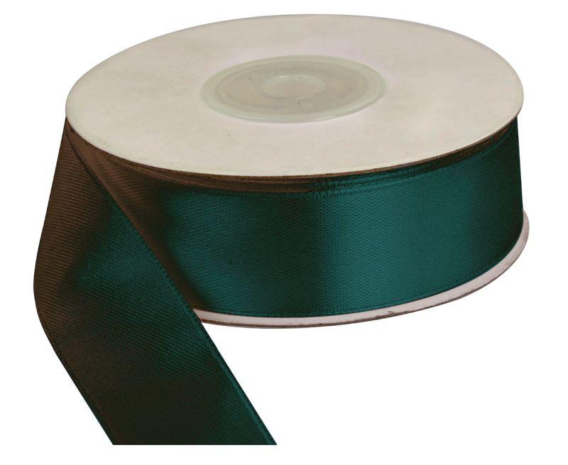 Saténová stuha 25 mm, 25 m, láhvově zelená