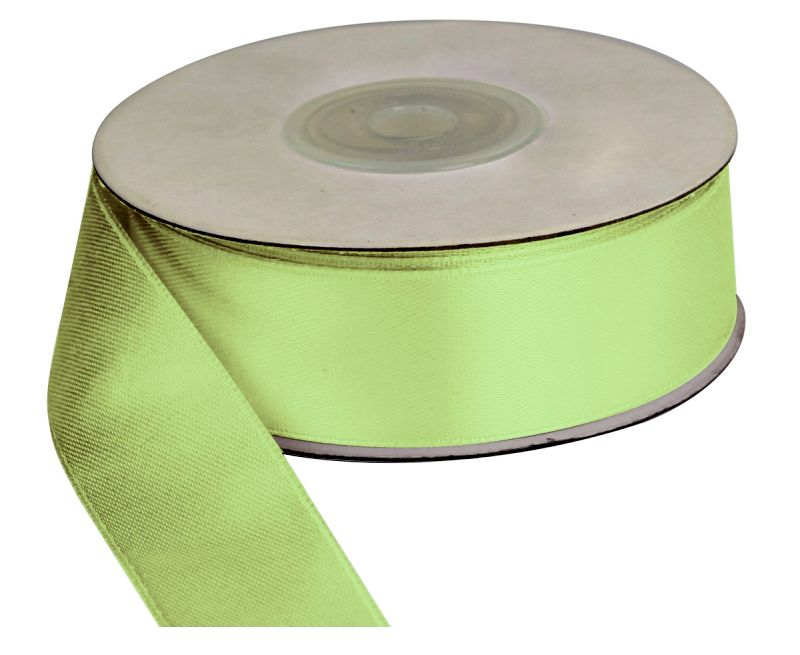 Saténová stuha 25 mm, 25 m, světle zelená