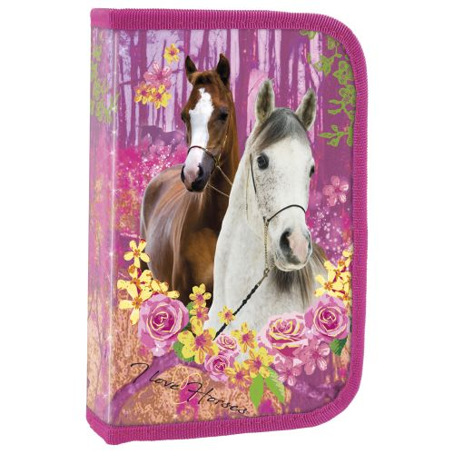 Školní penál koně vybavený - jednoduchý