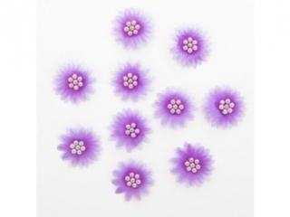 Stokrotki z per³ami DPCRAFT Lilac 10szt. (CEST-005)
