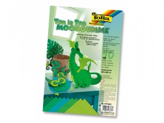 Arkusze piankowe FOLIA 20x29cm 10ark. - mix zielony