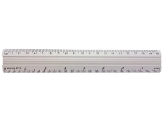 LINIJKA ALUMINIOWA 20cm