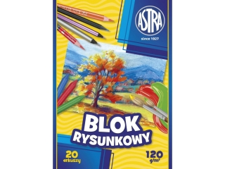 Blok rysunkowy A4 20k. ASTRA 120g