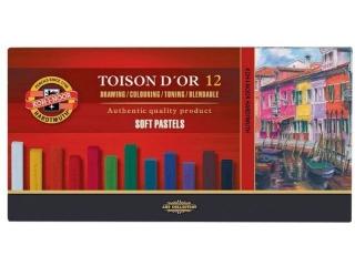 Pastele suche KOH-I-NOOR Toison D'or 12 kolorów
