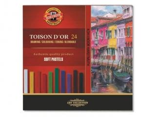 Pastele suche KOH-I-NOOR Toison D'or 24 kolory