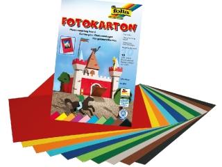 Blok z papierem kolorowym 22x33cm, 10 ark, 300g, 10 kol., Fo