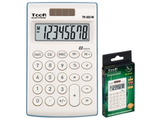 Kalkulator kieszonkowy TR-252, bia³y, Toor