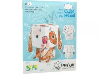 Kolorowanka MONUMI CubeHead 3D normal - Pies