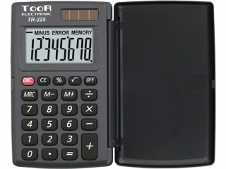 Kalkulator kieszonkowy TOOR TR-225 z klapk±, Toor