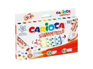 Pisaki stemple CARIOCA 12 kolorów