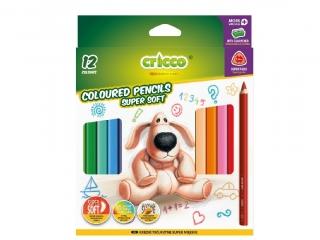 Kredki CRICCO trójk±tne grube Super Soft - 12 kolorów