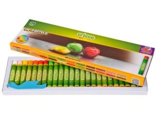 Pastele olejne CRICCO 24 kolory Zestaw promocyjny z j. Angie