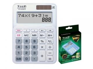 Kalkulator dwuliniowy TOOR TR-310DB-W 10-pozycyjny