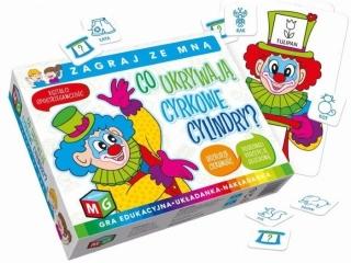 Gra MULTIGRA Co ukrywaj± cyrkowe cylindry- gra edukacyjna- uk³adanka- nak³adanka